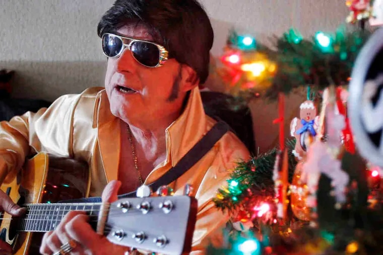 Ted Prior, 67, of Galloway Township, N.J., has been forced by illness to cancel his traditional New Year's Eve Elvis performance.