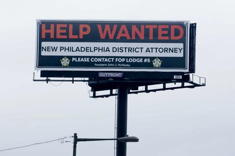 Billboard located on Aramingo Ave, near I-95, in Philadelphia, January 18, 2017.