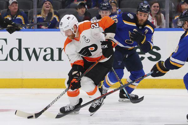 Flyers jolt defending champion St. Louis, 4-3, on Jake Voracek's OT goal