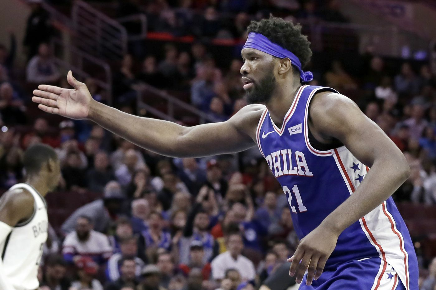 new product 0c96b 2f090 Sixers beat Nets as Joel Embiid scores 39 points