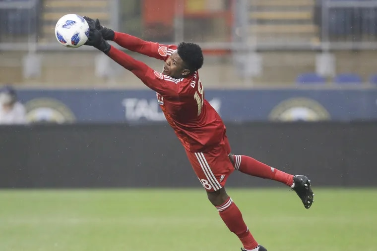 Andre Blake is having another great season as the Union's starting goalkeeper.