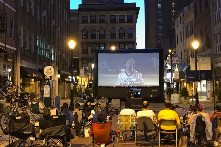 As part of a new branding effort, the Jewelers Row District has been holding movie nights on Sansom Street. The series started with Silver Linings Playbook, which includes a scene  in the storied diamond district.