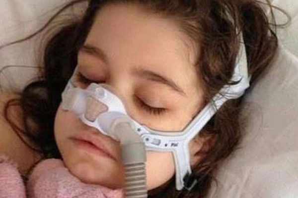 One day after transplant, Sarah is recovering