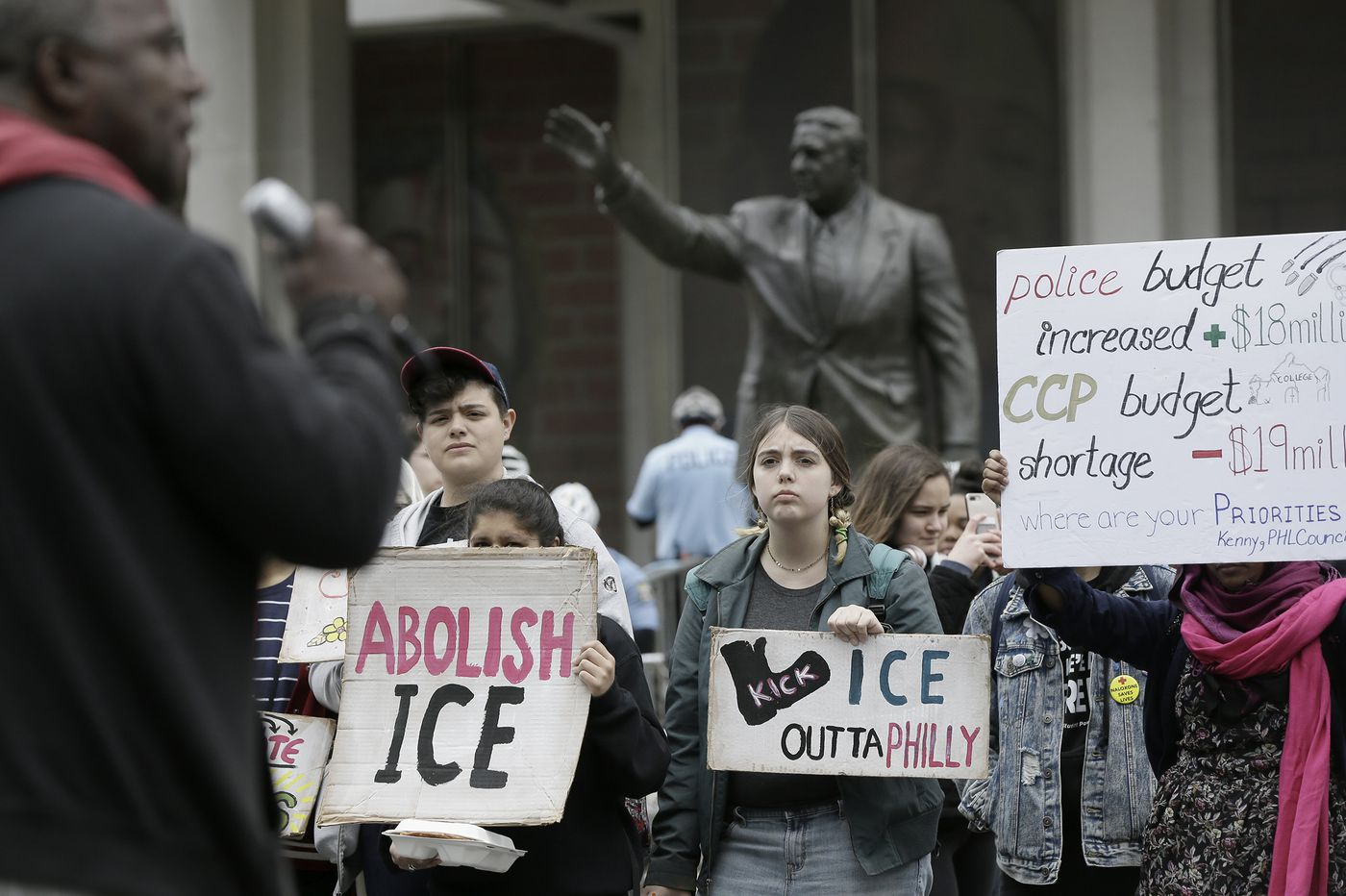 May Day: Immigration activists march for an end to big-tech contracts with ICE