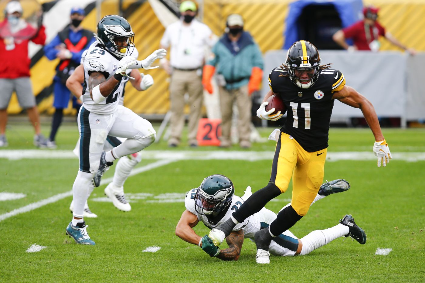 Grading the Eagles' performance in Sunday's 38-29 loss to the Steelers