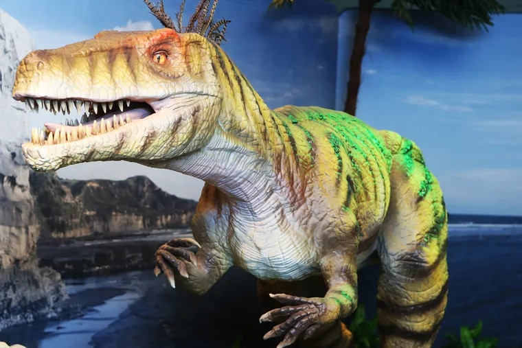 Animatronic dinosaurs are at the Academy of Natural Sciences starting June 30.