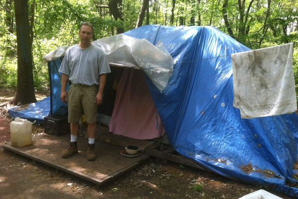 Homeless 'Tent City' to be razed in Bucks County