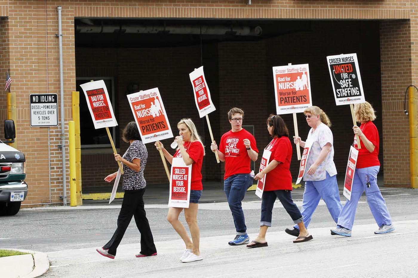 NLRB sets hearing over Crozer nurses' strike