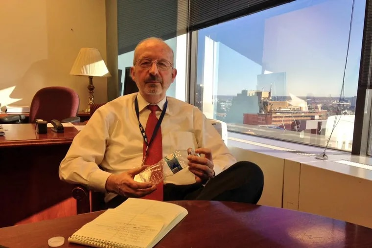 Charles Brennan in his former office in January 2016, shortly after he became Chief Information Officer of the City of Philadelphia. He was fired two years later.