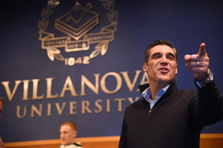 Villanova head coach Jay Wright, seen here in 2018, will be one of 16 inductees to the Naismith Memorial Basketball Hall of Fame Saturday night.