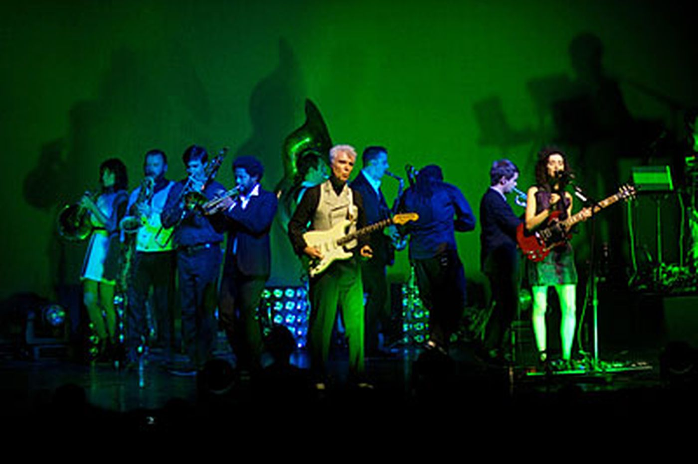 David Byrne and St. Vincent prove the vitality of live music