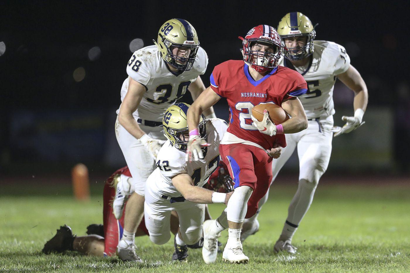 Luke Hitchen, Neshaminy quiet Council Rock South in Suburban One high school football triumph