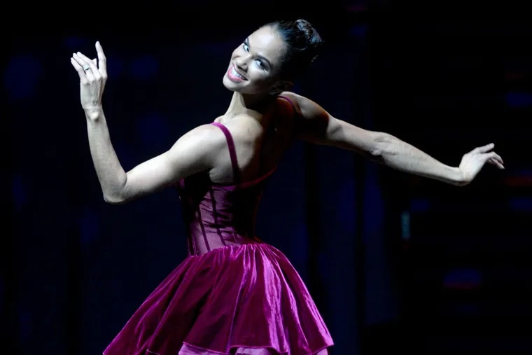 Misty Copeland performs during the Marian Anderson Award Gala Concert to honor Wynton Marsalis at the Kimmel Center on Nov. 10, 2015.