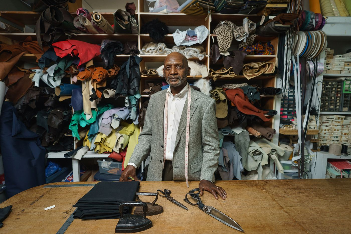 His Philly tailoring shop was looted during the uprising. More than $30,000 was donated for repairs.
