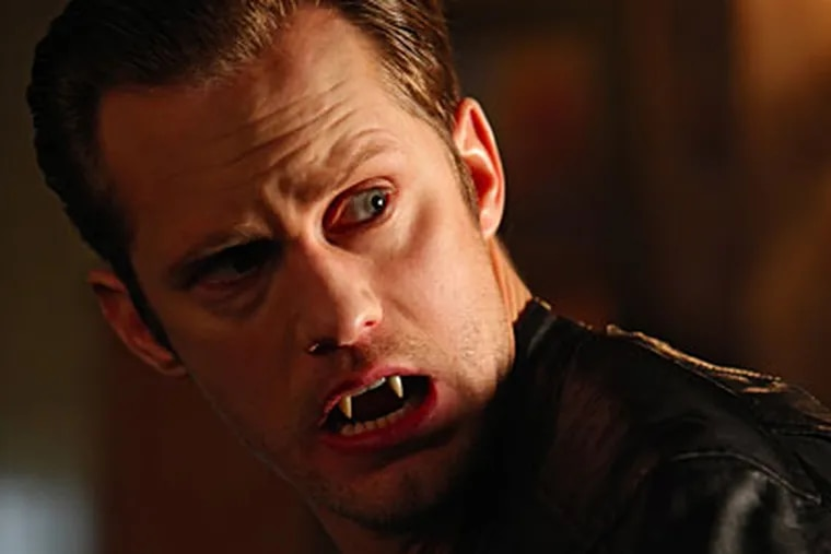 """Alexander Skarsgard has a revealing encounter with another """"True Blood"""" character."""