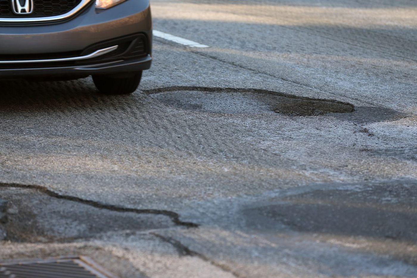 Motorists beware: Potholes are flattening tires around the region