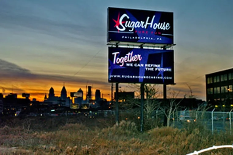 The SugarHouse Casino site on the Delaware. Some civic groups were outraged the Gaming Control Board approved two casinos only three miles apart in areas thick with cars and homes.