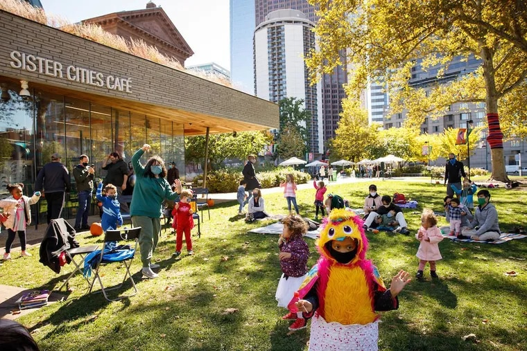 Sister Cities Park hosts its free Trick-or-Treat Scavenger Hunt, with pumpkin painting, story time, a circus performance, costume parade and search for candy on Oct. 16, 2021.