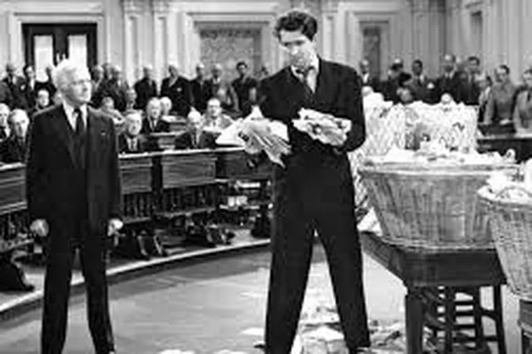 """Claude Rains and Jimmy Stewart in """"Mr. Smith Goes to Washington."""""""
