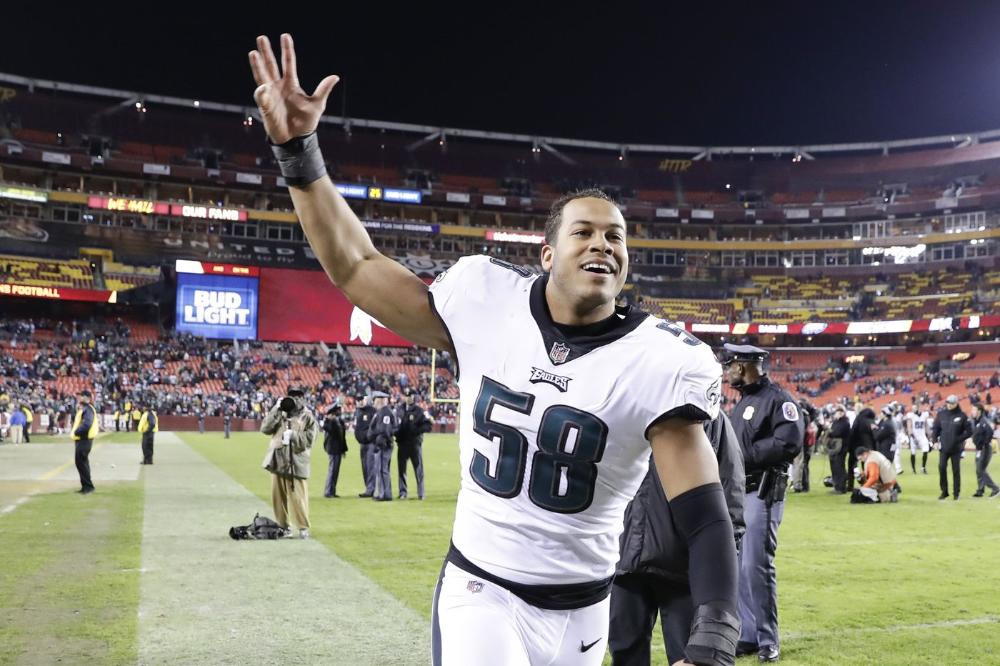 Eagles linebacker Jordan Hicks is finally healthy for a playoff game, and he's pretty excited about it