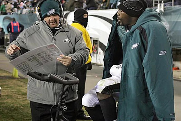 Eagles coach Marty Mornhinweg could be a head-coaching candidate this offseason. (Yong Kim / Staff Photographer)