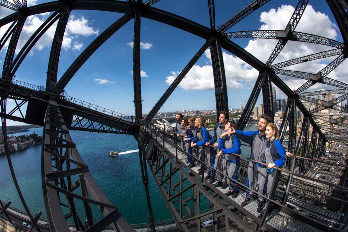 Atop Sydney's harbor bridge: Incredible views and maybe a cure for fear of heights