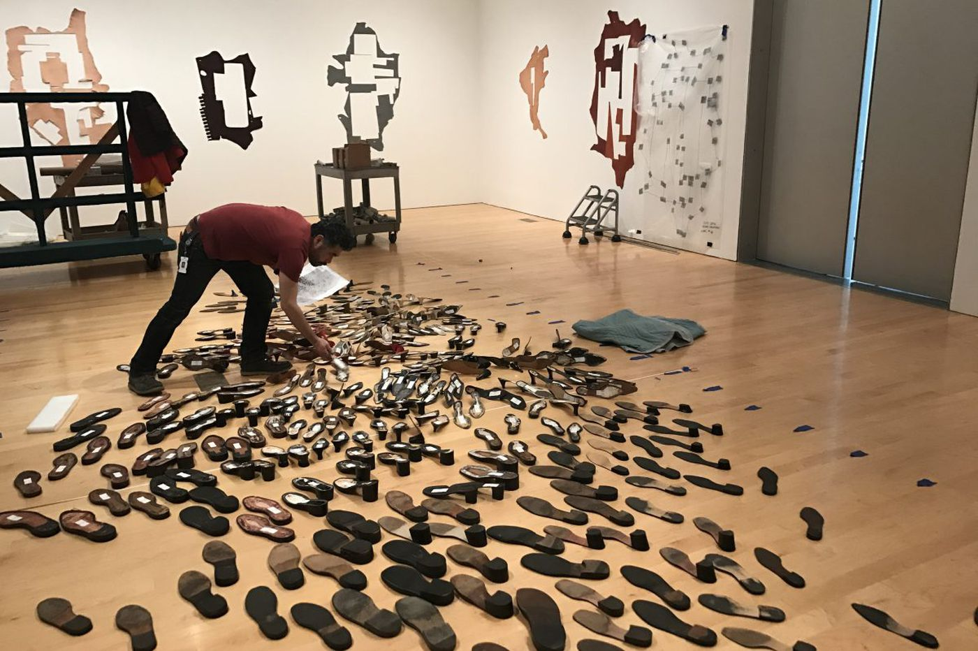 How do 400 broken shoes become art? Inside Philly museum's newest installation