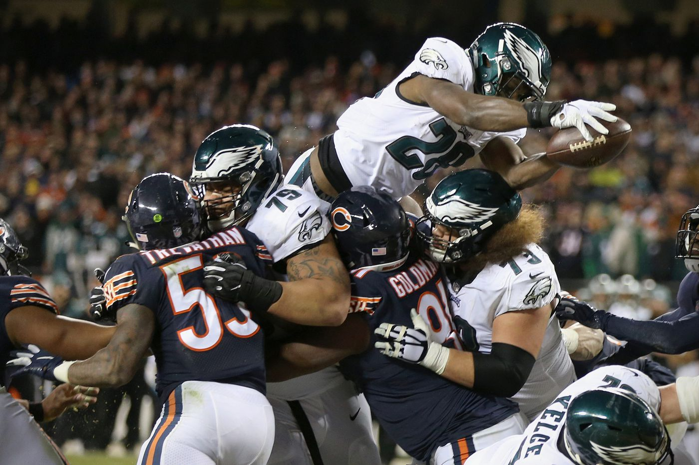 Inactive last postseason, Eagles running back Wendell Smallwood is contributing this time