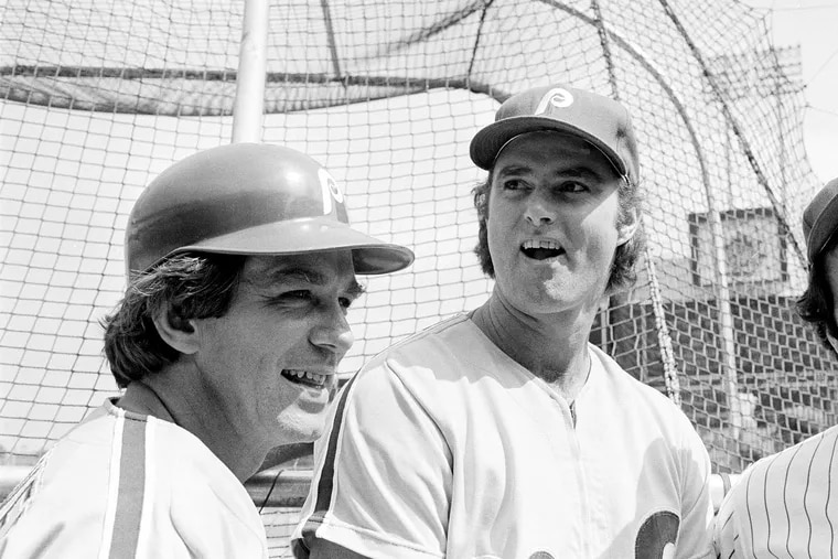 Steve Carlton (right) and Tim McCarver helped lead the Phillies to the cusp of the World Series.