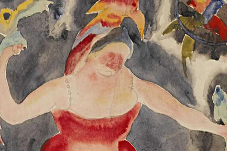 The work of artist Charles DeMuth (above), who lived in Lancaster, can be seen in the museum named for him, which is in his house.
