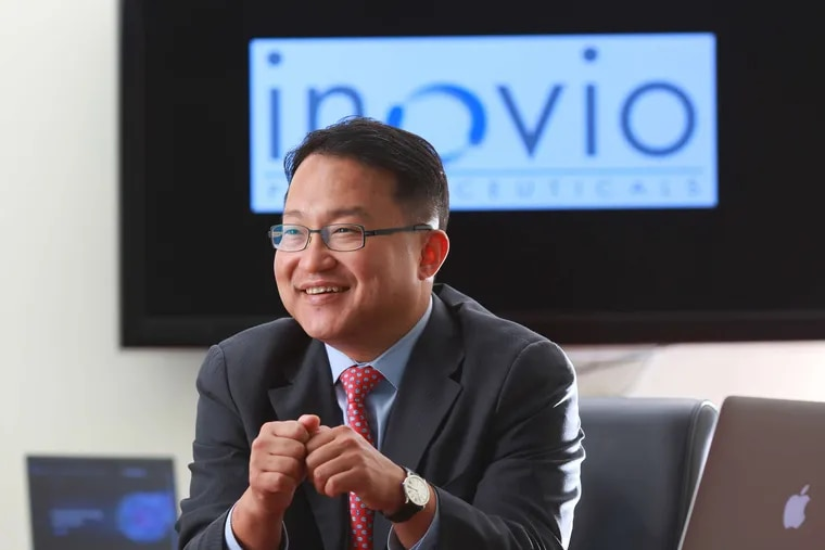 J. Joseph Kim, president and CEO of Inovio Pharmaceuticals in Plymouth Meeting.