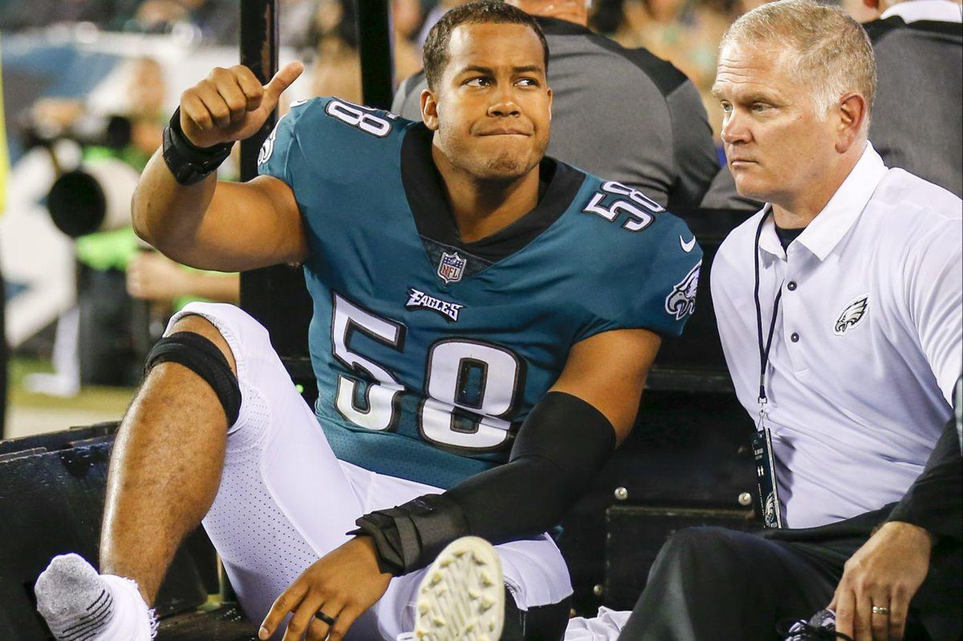 Source: Eagles linebacker Jordan Hicks has torn Achilles tendon