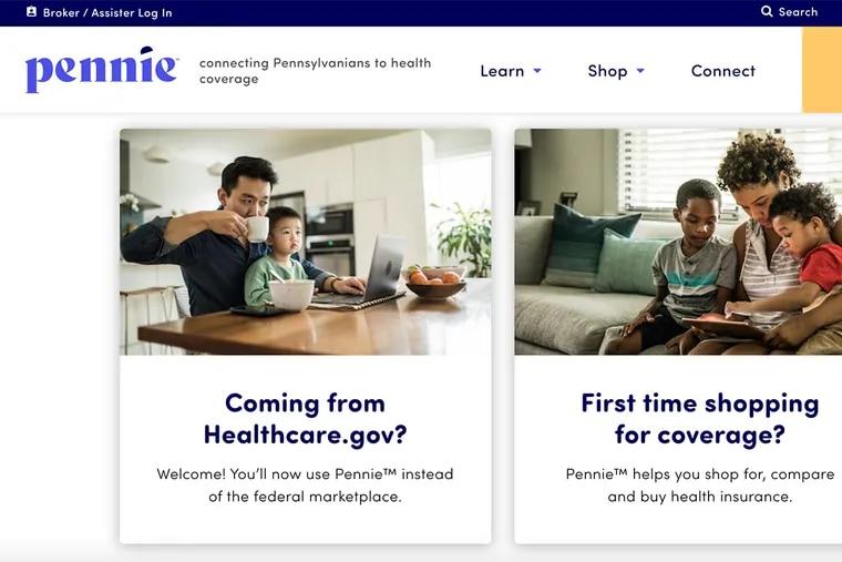 Pennsylvania has its own online insurance marketplace, Pennie.com.