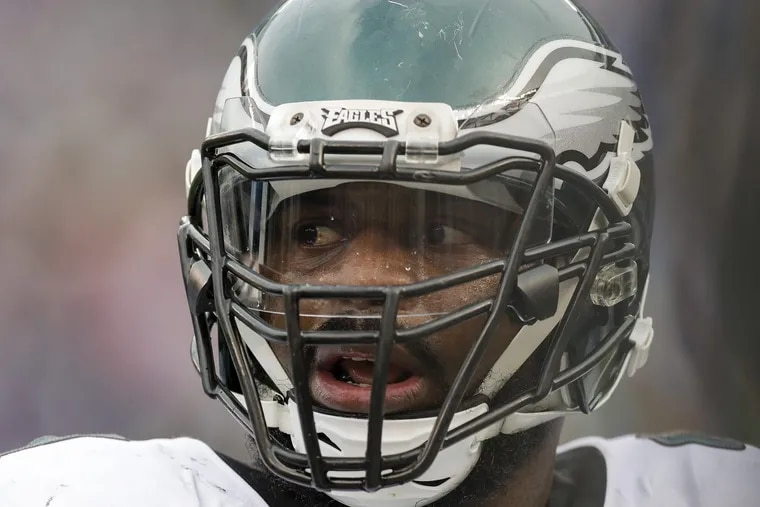 Eagles defensive tackle Fletcher Cox against the New York Giants on Dec. 17.