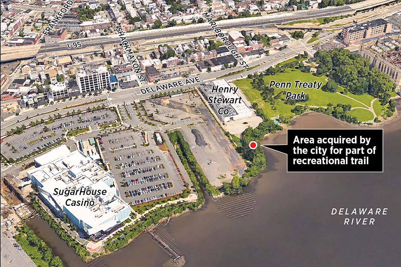 Philly takes control of industrial business' riverfront property for cycling/walking trail