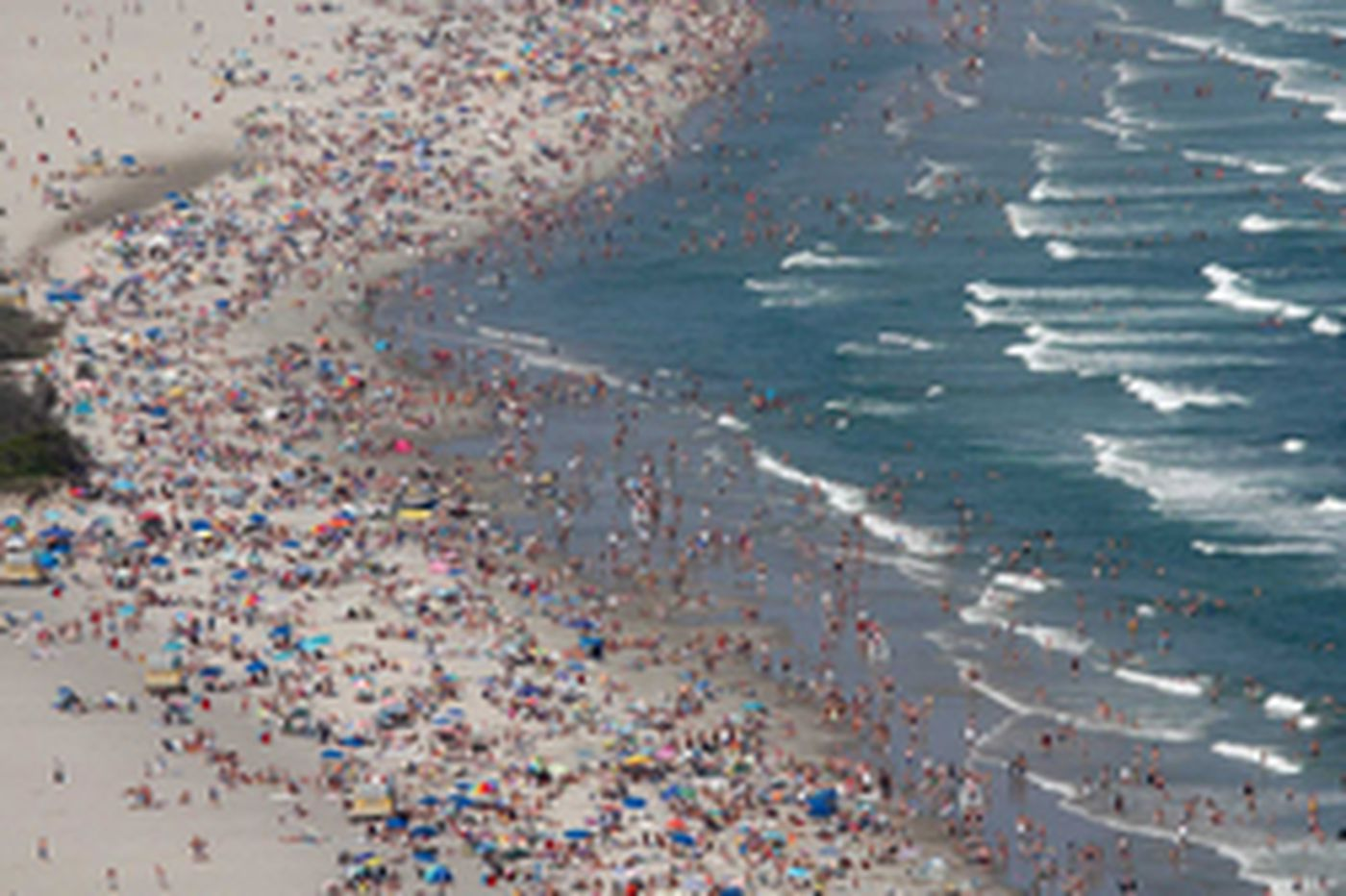 Still going downashore: Beachgoers, undaunted by high gas prices, head for familiar haunts