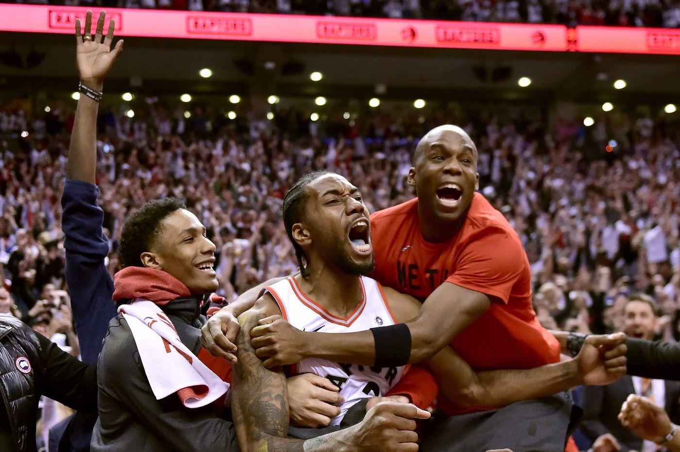 Watch: Raptors' Kawhi Leonard sinks game-winner to beat Sixers in Game 7