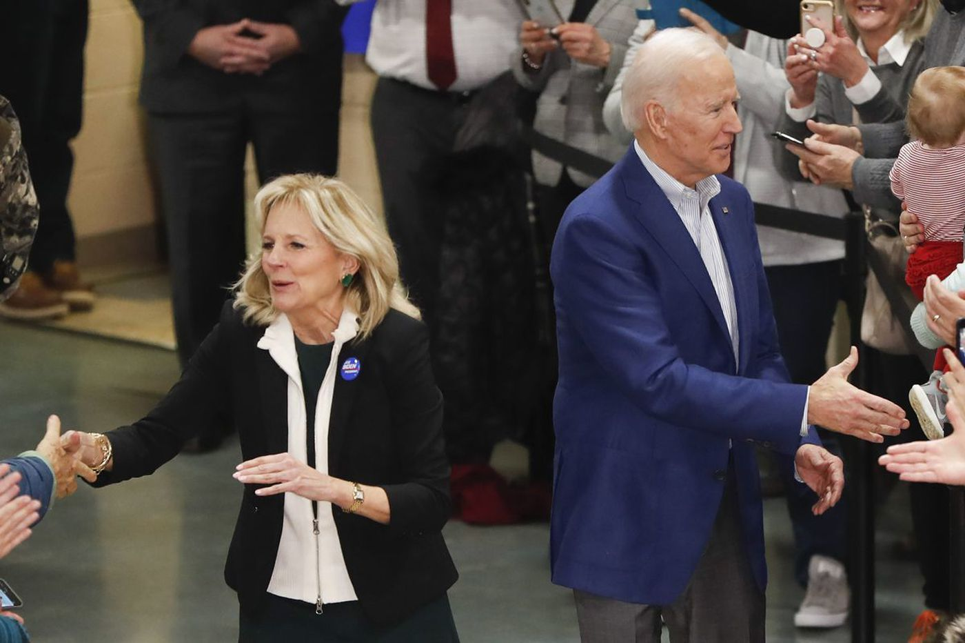 Jill Biden confronts heckler during her husband's New Hampshire rally: 'I'm a good Philly girl'