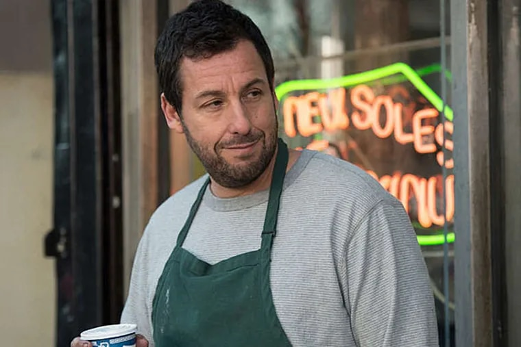 """Walk a mile in their footwear: Adam Sandler as a dour shoemaker with a magical stitching machine in """"The Cobbler."""" (Macall Polay/ImageEntertainment)"""