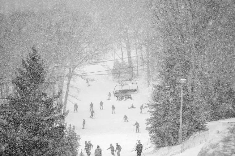 Ski conditions are not quite this great in the Poconos yet, but the recent lower temperatures have allowed resorts to pump up their snowmaking so much that some are opening this coming weekend.
