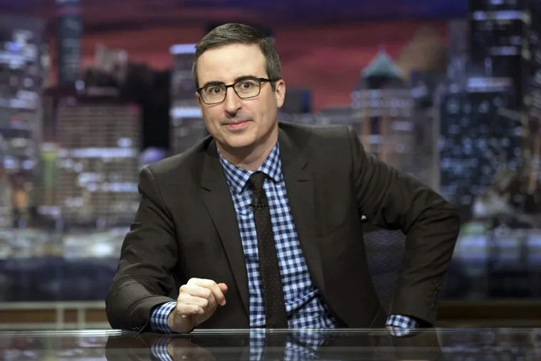 """John Oliver, host of """"Last Week Tonight with John Oliver,"""" got into a testy exchange with Dustin Hoffman."""