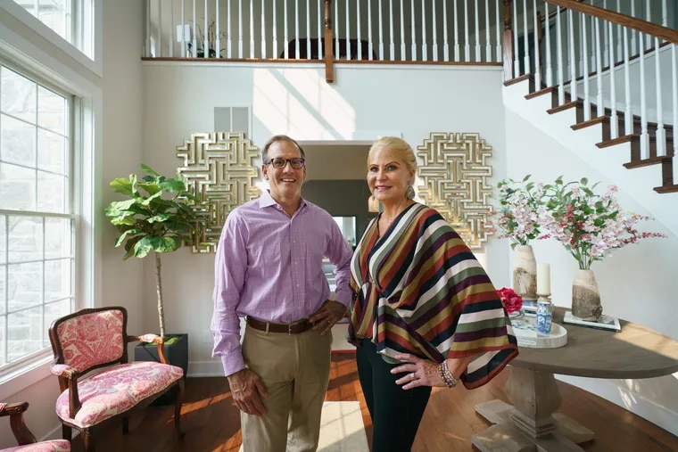 """""""This was the perfect amount of space and would allow us to travel and do other things and not get tied down with home responsibility,"""" said Kristin Haines, here with her husband, Timothy Stevens."""