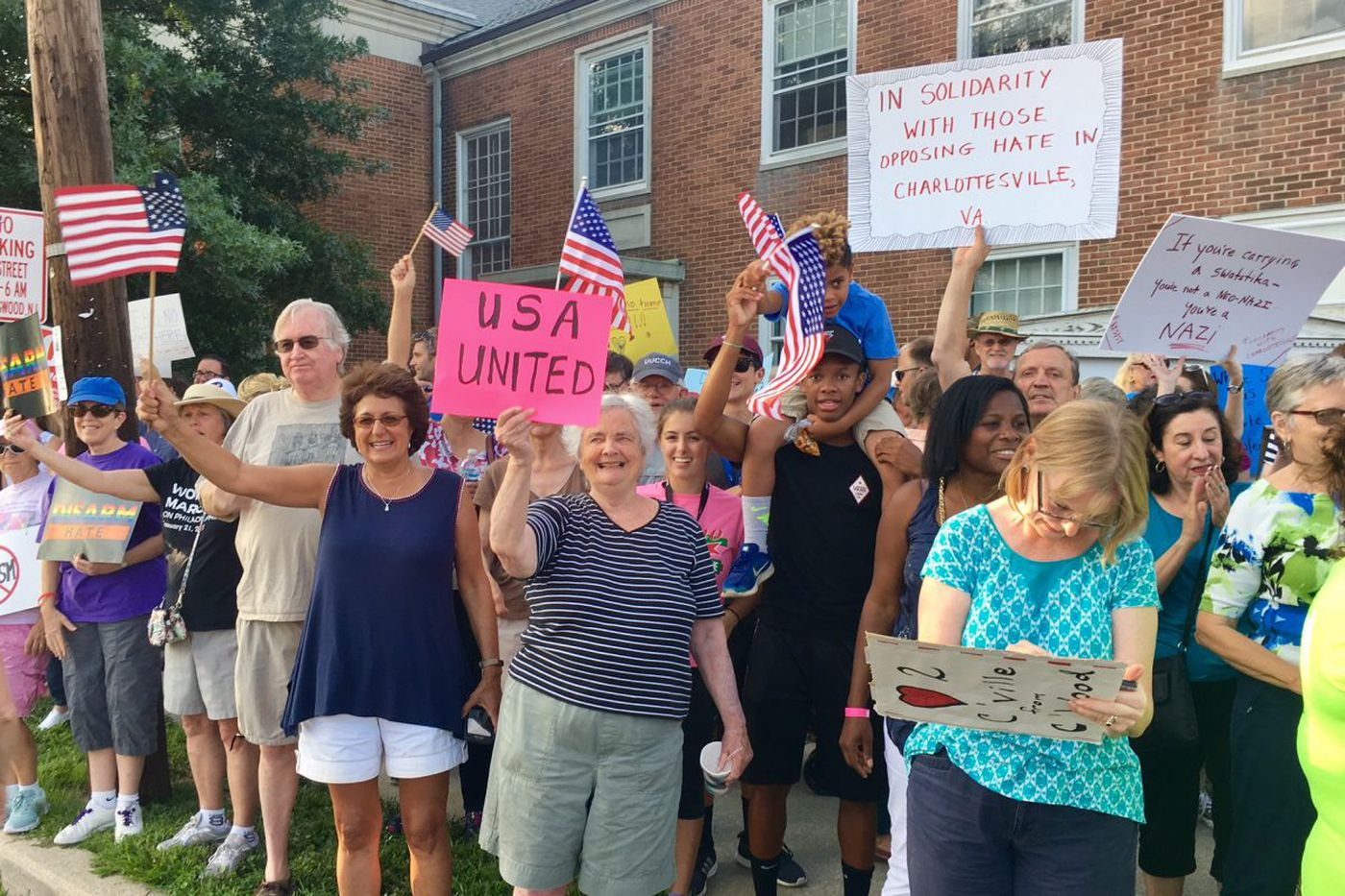 Why Charlottesville drew hundreds to a South Jersey street corner