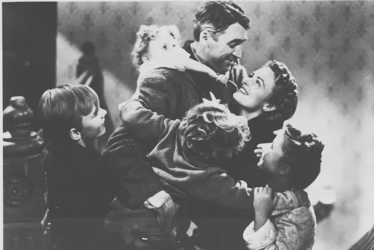 """James Stewart and Donna Reed in Frank Capra's """"It's a Wonderful Life."""""""