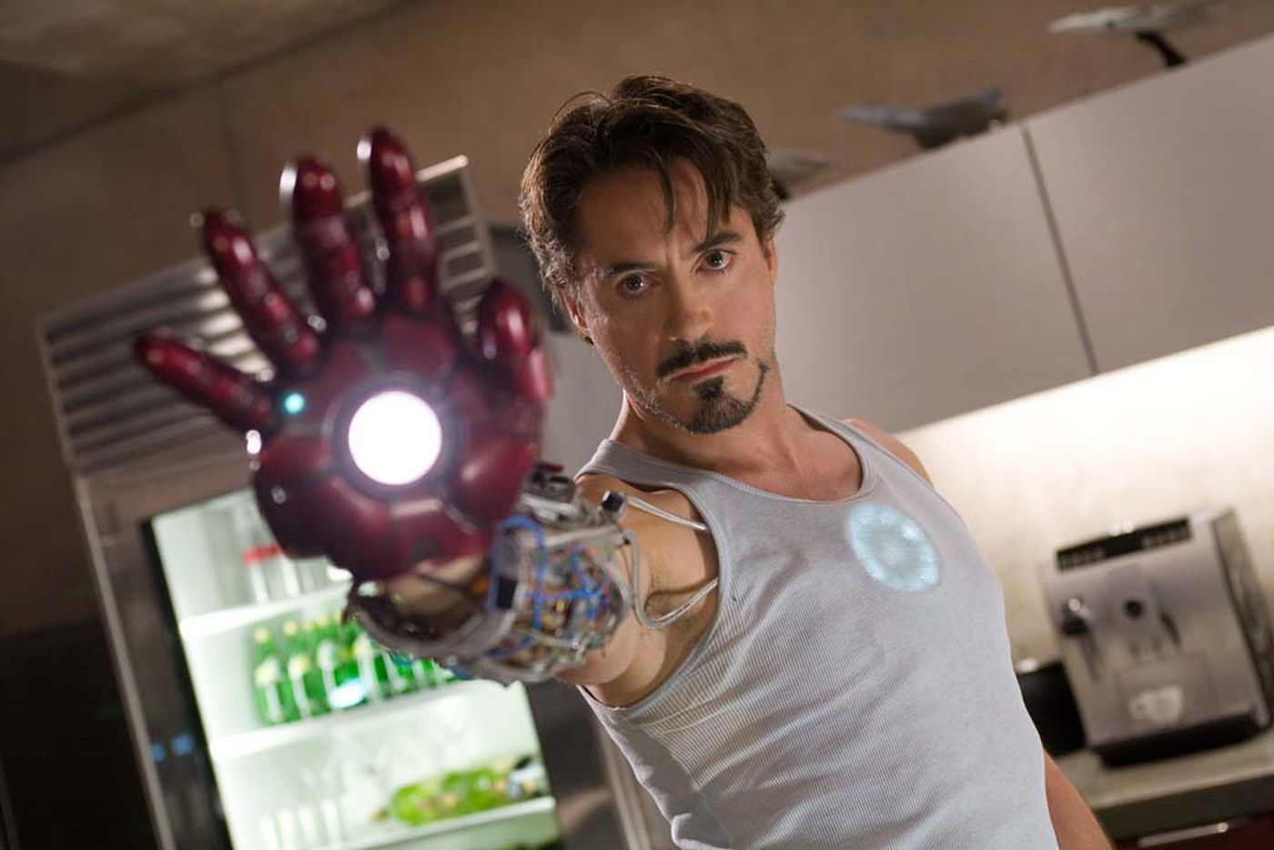 Robert Downey Jr. as billionaire industrialist Tony Stark aka Iron Man.