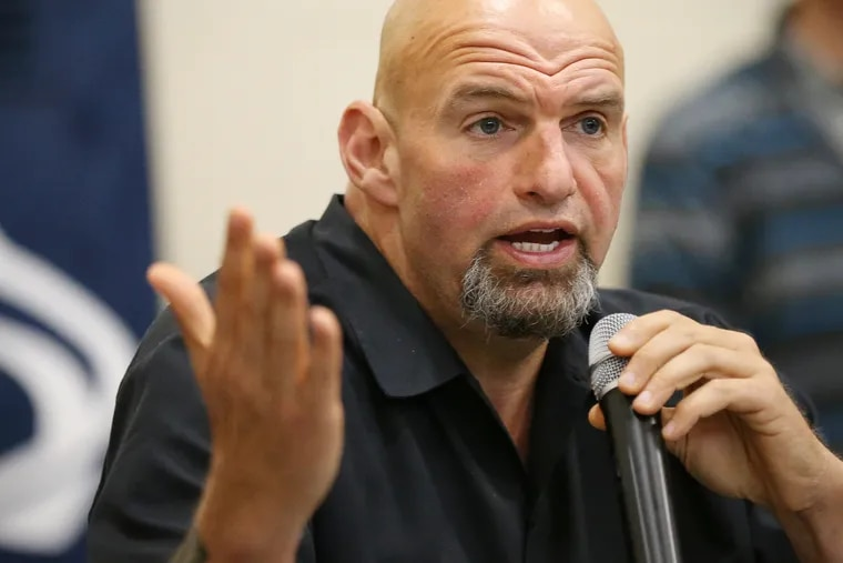 Lt. Gov. John Fetterman answers questions about the commutation process from inmates at SCI Dallas in Dallas, Pa., on Thursday, Oct. 10, 2019. Fetterman urged the audience of about 200 inmates, many with life sentences, to apply for commutation even if they have been denied in the past.