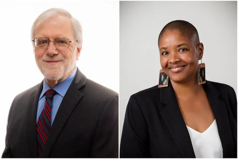 Green Party presidential candidate Howie Hawkins, left, and running mate Angela Walker, right.