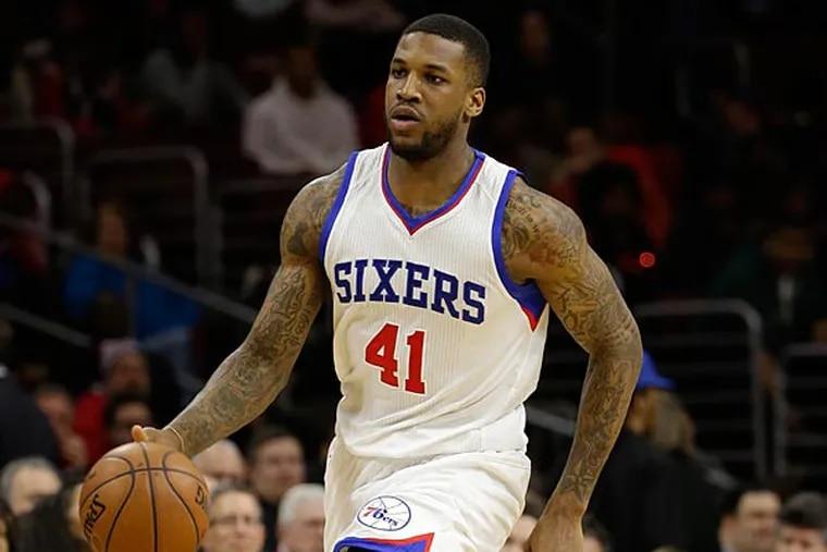Philadelphia 76ers' Thomas Robinson in action during an NBA basketball game against the Washington Wizards, Friday, Feb. 27, 2015, in Philadelphia. (Matt Slocum/AP)