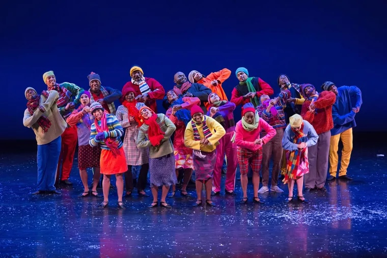 """Dancers from Philadanco and two junior companies - D/2 Apprentice Company and D/3 Youth Emsemble - fill out the cast of """"Xmas Philes."""""""