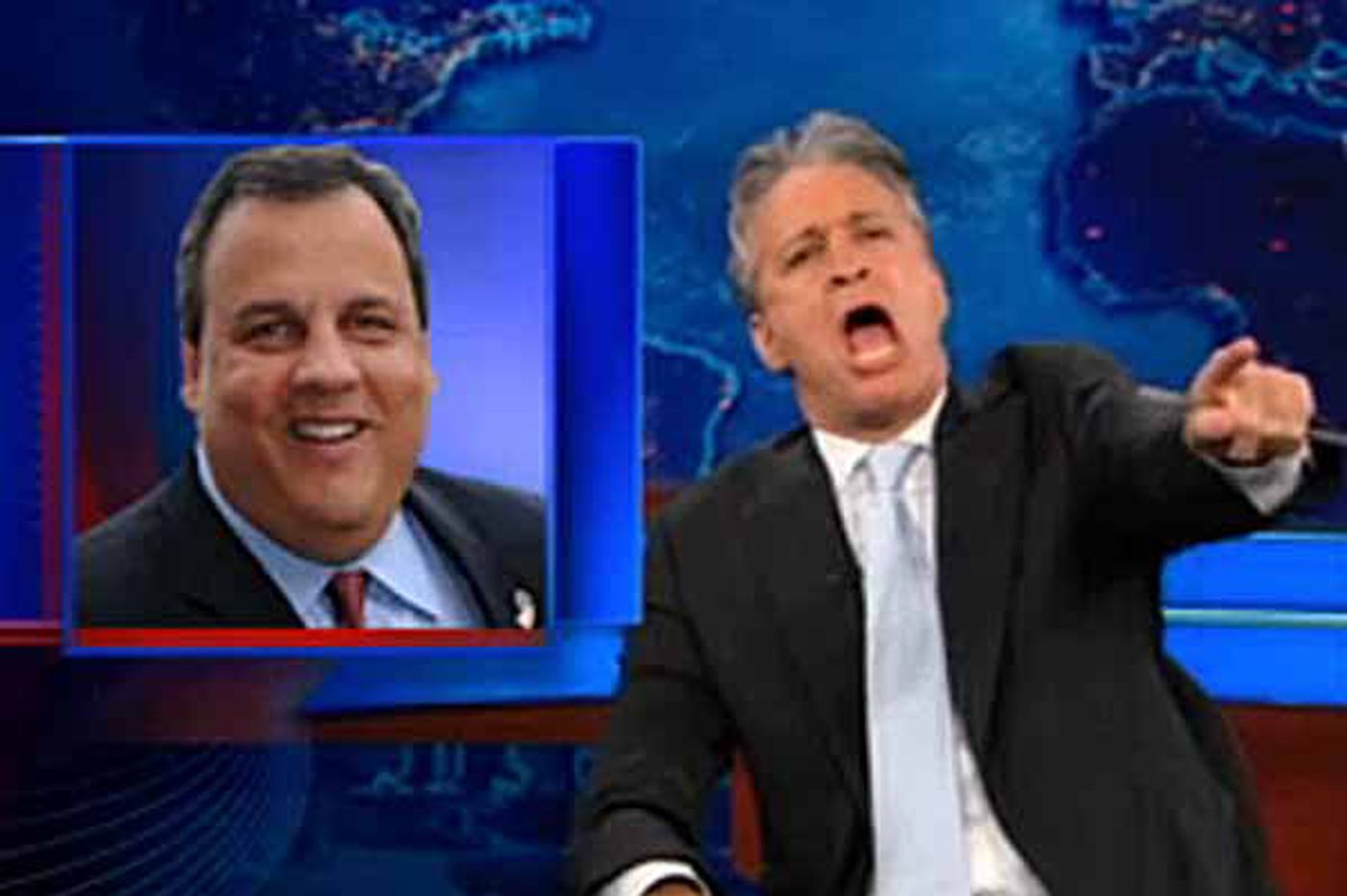 Christie and Jon Stewart on Comedy Central have an easy, rapid-fire repartee